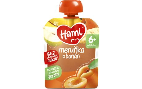 6x HAMI Ovocná kapsička Meruňka,banán a hruška (90 g)