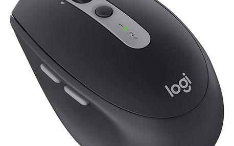 Myš Logitech M590 Silent - graphite (910-005197) / optická / 7 tlačítek / 1000dpi