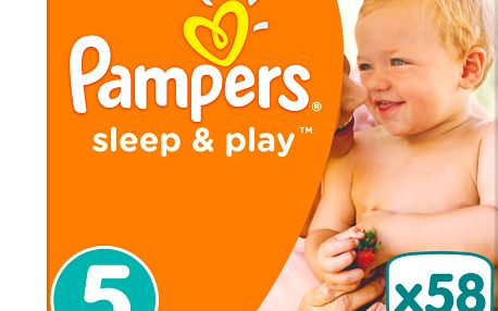 2x PAMPERS Sleep&Play 5 JUNIOR 58ks (11-18 kg) JUMBO PACK - jednorázové pleny