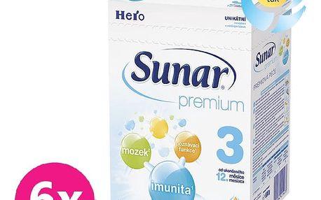 6x SUNAR Premium 3 (600 g) - kojenecké mléko