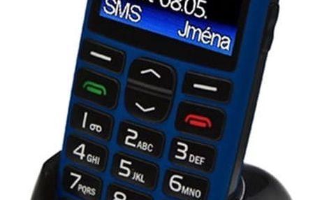 Mobilní telefon Aligator A680 + stojánek (A680BE) modrý