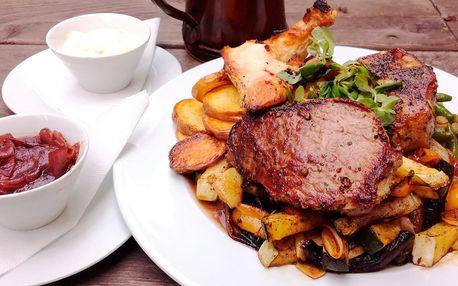 3 druhy grilovaných mas se zeleninou pro dva