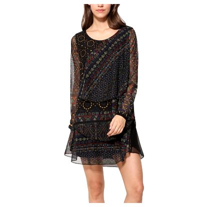 Desigual barevné dámské šaty Capas