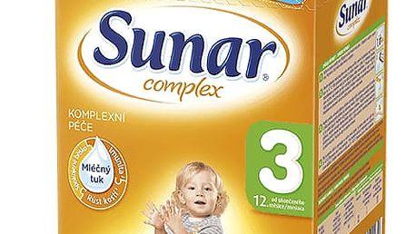3x SUNAR Complex 3 (600g) – kojenecké mléko