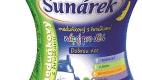 3x SUNÁREK Dobrou noc meduňka, hruška rozpustný nápoj (200 g) - dóza