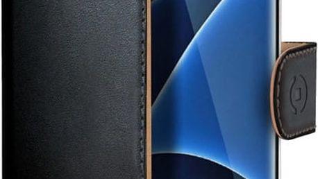 CELLY Wally pouzdro pro Samsung Galaxy S7 Edge, PU kůže, černá - WALLY591