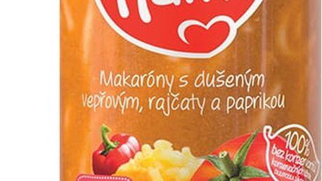 3x HAMI Makaróny s dušeným vepřovým, rajčaty a paprikou (250 g) - maso-zeleninový příkrm