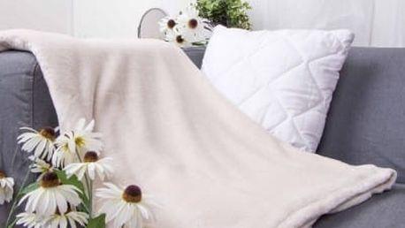 XPOSE ® Deka mikroflanel - bílá káva 150x200 cm