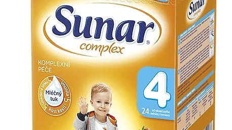 6x SUNAR Complex 4 JAHODA (600g) – kojenecké mléko