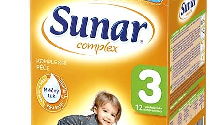 6x SUNAR Complex 3 VANILKA (600g) – kojenecké mléko
