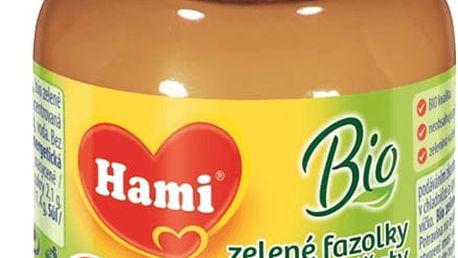 6x HAMI BIO příkrm zelené fazolky s rajčaty (125 g) – zeleninový příkrm