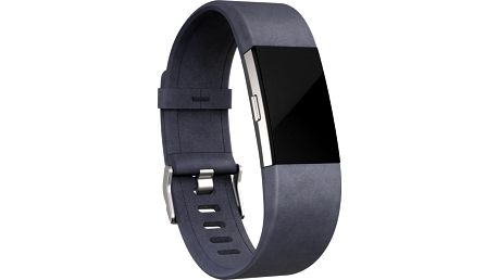 Fitbit Charge 2 Accessory Band kožený L, indigo - FB160LBIGL