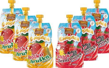 OVOCŇÁK 250ml mix (6x250ml) - ovocná šťáva