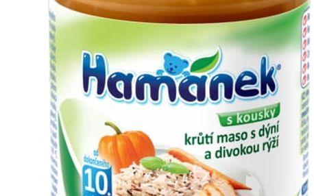 6x HAMÁNEK Krůtí maso s dýní a divokou rýží (190 g) – maso–zeleninový příkrm