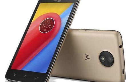 Mobilní telefon Motorola Moto C Dual SIM (PA6L0092CZ) zlatý + Doprava zdarma