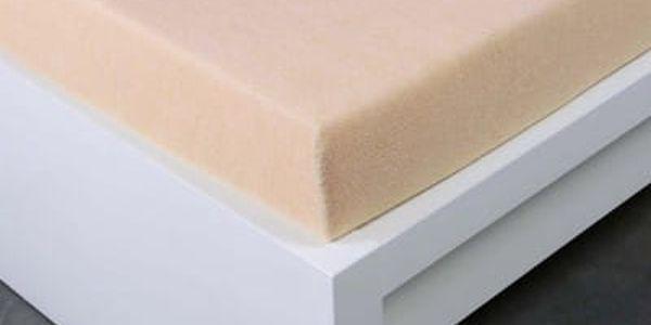 XPOSE ® Froté prostěradlo Exclusive jednolůžko - bílá káva 90x200 cm