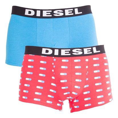 2PACK pánské boxerky Diesel červené pilulky L