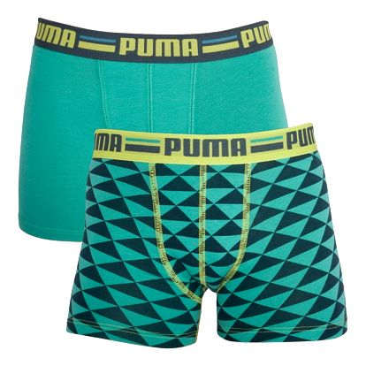 2PACK Chlapecké Boxerky Puma Sea Green 128
