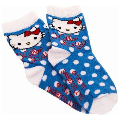 Ponožky Disney Hello Kitty modré puntíky 35/37