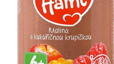 6x HAMI Malina s kukuřičnou krupičkou (190 g) – ovocný příkrm