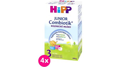 4x HIPP 3 Junior Combiotik (600 g)