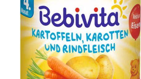 6x BEBIVITA Mrkev a brambory s hovězím masem (190 g) - masozeleninový příkrm
