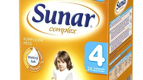 3x SUNAR Complex 4 (600g) – kojenecké mléko
