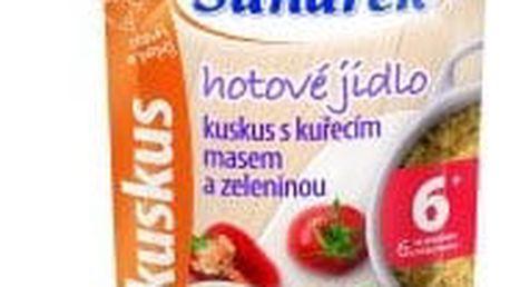 6x SUNÁREK Kapsička - Kuskus s kuřecím masem a zeleninou (120 g)