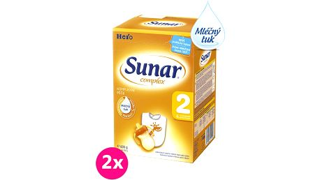 2x SUNAR Complex 2 (600g) – kojenecké mléko