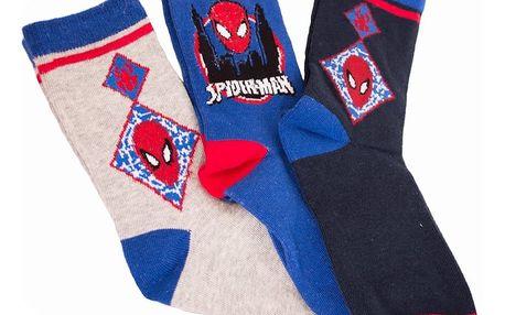 3PACK ponožky Marvel Spiderman modré 27/30