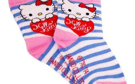 Ponožky Disney Hello Kitty modré proužky 23/26