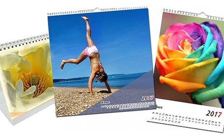 Kalendář z vlastních fotografií v různých provedeních