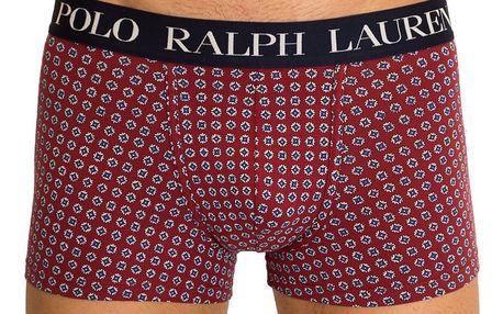 Pánské boxerky Ralph Lauren s obrazcem vínové XL