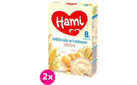 2x HAMI Mléčna kaše s piškoty (225 g)