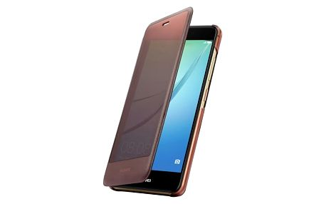 Pouzdro na mobil flipové Huawei Smart View Cover pro Nova (51991767) hnědé