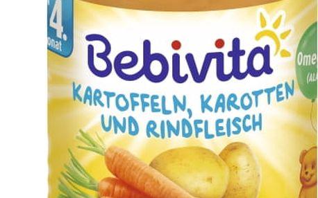6x BEBIVITA Mrkev a brambory s hovězím masem (190g) - masozeleninový příkrm