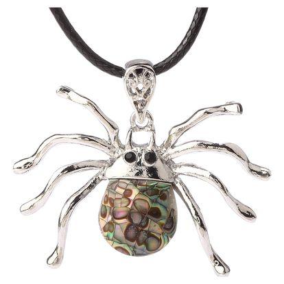 Fashion Icon Přívěsek pavouk s Paua perletí a řetízkem