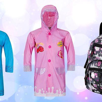 Dětské pláštěnky a batohy na každý výlet