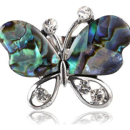 Fashion Icon Prsten motýl s Paua perletí