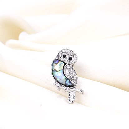 Brož sova malá s Paua perletí
