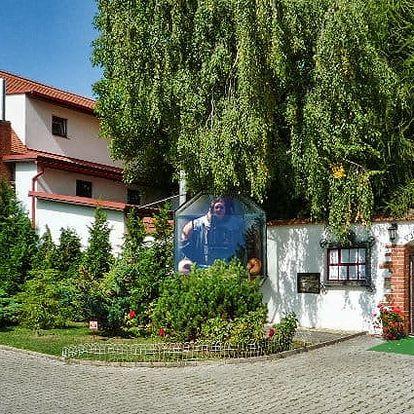 2 až 6denní wellness pobyt pro 2 s degustací vína v penzionu Zlobice u Kroměříže
