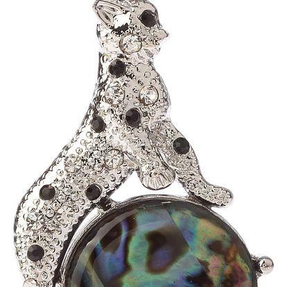 Fashion Icon Přívěsek gepard s Paua perletí