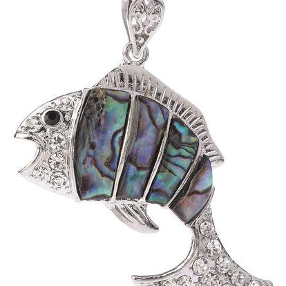 Fashion Icon Přívěsek Paua perleť rybka