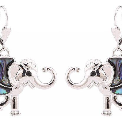 Fashion Icon Náušnice orientální slon s Paua perletí