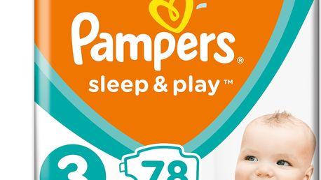 2x PAMPERS Sleep&Play 3 MIDI 78ks (6-10kg) JUMBO PACK - jednorázové pleny