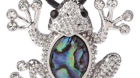 Fashion Icon Přívěsek žabka s Paua perletí a řetízkem