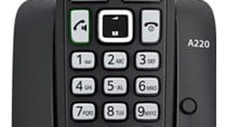 Domácí telefon Siemens A220 (S30852-H2411-R601) černý