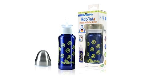 PACIFIC BABY Hot-Tot Termoska 200 ml modrá-spirálky