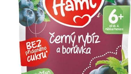 6x HAMI Kapsička černý rybíz a borůvka 90 g - ovocný příkrm