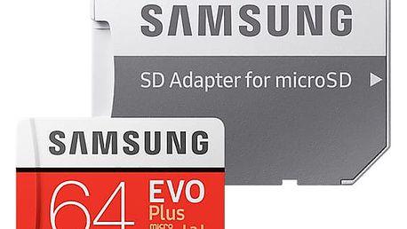 Samsung Micro SDXC EVO Plus 64GB UHS-I U3 + SD adaptér - MB-MC64GA/EU